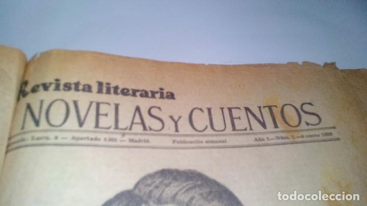 Libros antiguos: revista literaria novelas y cuentos-Año 1, número 1 de 1929 y varios números mas-ver fotos - Foto 4 - 120868615