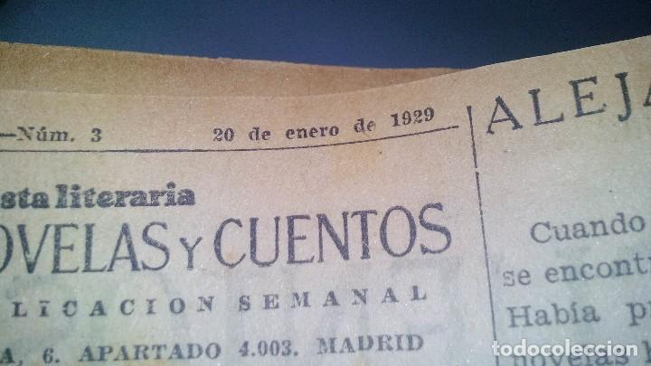 Libros antiguos: revista literaria novelas y cuentos-Año 1, número 1 de 1929 y varios números mas-ver fotos - Foto 10 - 120868615