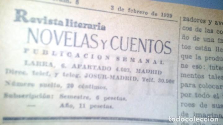 Libros antiguos: revista literaria novelas y cuentos-Año 1, número 1 de 1929 y varios números mas-ver fotos - Foto 13 - 120868615