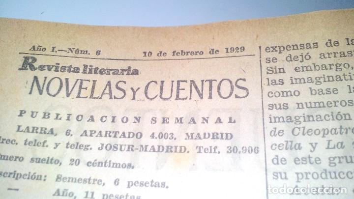 Libros antiguos: revista literaria novelas y cuentos-Año 1, número 1 de 1929 y varios números mas-ver fotos - Foto 15 - 120868615
