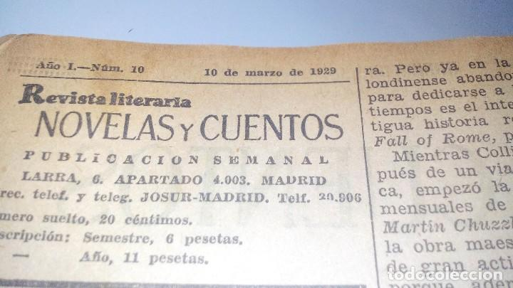 Libros antiguos: revista literaria novelas y cuentos-Año 1, número 1 de 1929 y varios números mas-ver fotos - Foto 18 - 120868615