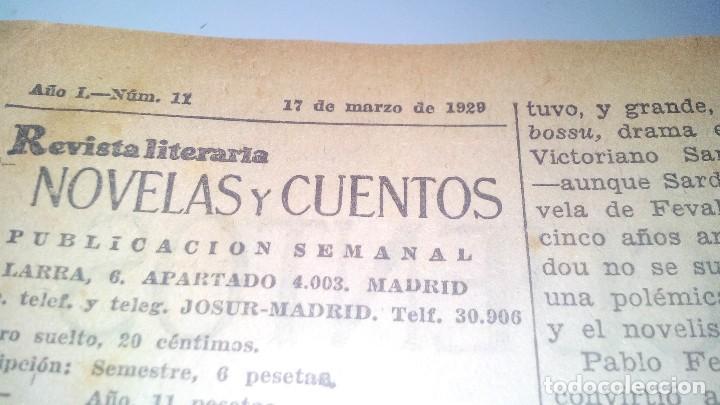 Libros antiguos: revista literaria novelas y cuentos-Año 1, número 1 de 1929 y varios números mas-ver fotos - Foto 20 - 120868615
