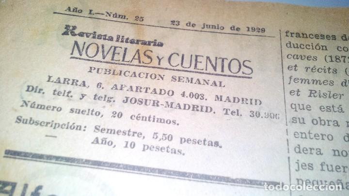 Libros antiguos: revista literaria novelas y cuentos-Año 1, número 1 de 1929 y varios números mas-ver fotos - Foto 25 - 120868615