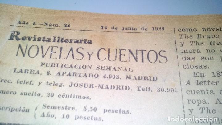 Libros antiguos: revista literaria novelas y cuentos-Año 1, número 1 de 1929 y varios números mas-ver fotos - Foto 27 - 120868615