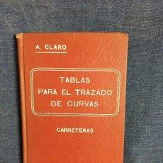 Libros antiguos: TABLAS PARA EL TRAZADO DE CURVAS CARRETERAS CLARO 1907 BARCELONA LIBRERIA MOLINS 17,5X11CMS. Lote 120937195