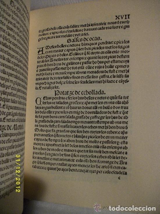 Libros antiguos: LIBRO-LLIBRE DE COCH,AÑO1520,PRIMER LIBRO DE COCINA EN CATALAN,FACSIMIL SOLO 500 LIBROS,GASTRONOMIA - Foto 4 - 120961435