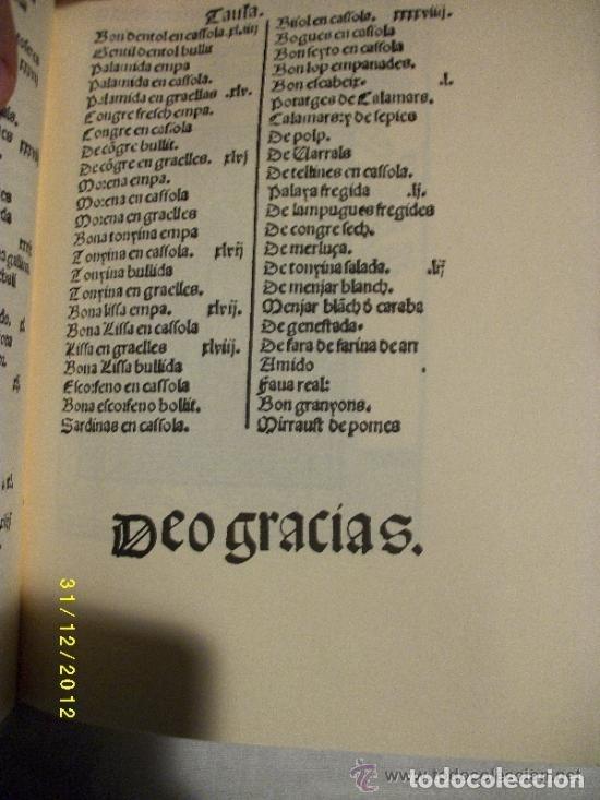 Libros antiguos: LIBRO-LLIBRE DE COCH,AÑO1520,PRIMER LIBRO DE COCINA EN CATALAN,FACSIMIL SOLO 500 LIBROS,GASTRONOMIA - Foto 6 - 120961435