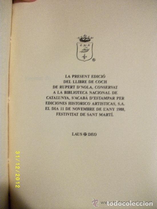 Libros antiguos: LIBRO-LLIBRE DE COCH,AÑO1520,PRIMER LIBRO DE COCINA EN CATALAN,FACSIMIL SOLO 500 LIBROS,GASTRONOMIA - Foto 7 - 120961435