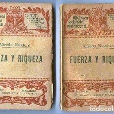 Libros antiguos: FUERZA Y RIQUEZA. Lote 120966279