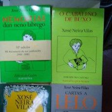 Libros antiguos: 4 LIBROS DE XOXÉ NEIRA VILAS ED. DO CASTRO 1980 ILUSTRADOS. Lote 121111759