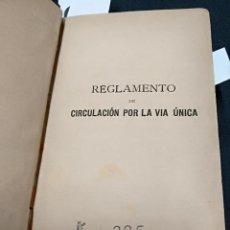Libros antiguos: 1891 - FERROCARRILES DEL GRAO A VALENCIA Y TURIS - DIVERSOS REGLAMENTOS - LEER INTERIOR. Lote 121137055