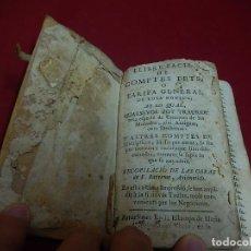 Libros antiguos: LLIBRE FÁCIL DE COMPTES O TARIFA GENERAL DE TOTA MONEDA. 1757.. Lote 121258731