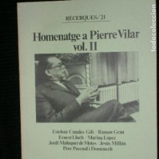 Libros antiguos: F1 HOMENATGE A PIERRE VILAR Nº 21. Lote 121266975