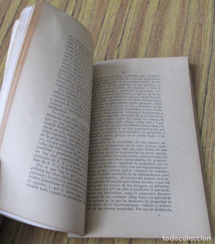 Libros antiguos: Documentos parlamentarios - Discursos pronunciados Por D. Francisco Silvela y D. Antonio Maura 1903 - Foto 7 - 121284263