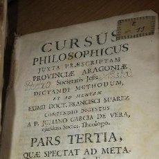 Libros antiguos: LIBRO PERGAMINO, CURSUS PHILOSOPHICUS , A.P. JULIANO GARCÍA DE LA VERA. BILBILI, 1749.. Lote 121233319