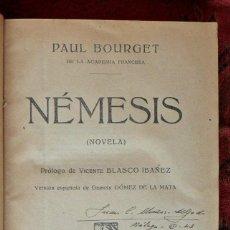 Libros antiguos: NÉMESIS. PAUL BOURGET.. Lote 121369291