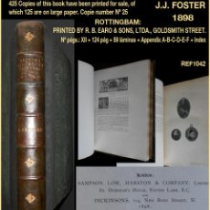 Libros antiguos: PCBROS - BRITISH MINIATURES PAINTERS AND THEIR WORKS - J. J. FOSTER - 1898 - Nº25 /125- ENGLISH LANG. Lote 121377247