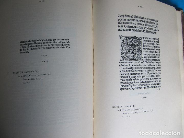 Libros antiguos: MANUAL GRÁFICO DESCRIPTIVO DEL BIBLIÓFILO HISPANO AMERICANO. FRANCISCO VINDEL. TOMO V. L - Me, 1930. - Foto 6 - 121388535