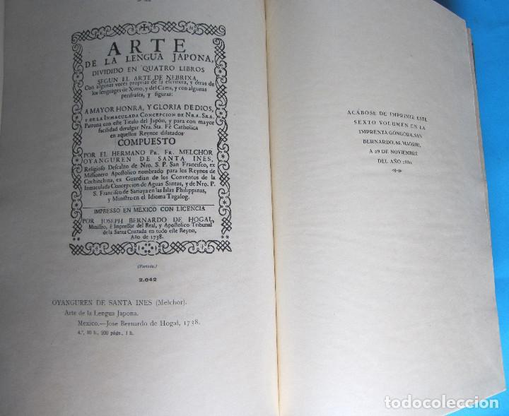 Libros antiguos: MANUAL GRÁFICO DESCRIPTIVO DEL BIBLIÓFILO HISPANO AMERICANO. FRANCISCO VINDEL. TOMO V. L - Me, 1930. - Foto 7 - 121388535