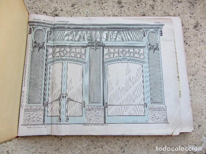 Libros antiguos: Nuevos modelos de carpinteria 80 laminas J. Artigas - Foto 2 - 121448311