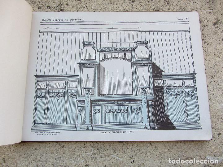 Libros antiguos: Nuevos modelos de carpinteria 80 laminas J. Artigas - Foto 3 - 121448311