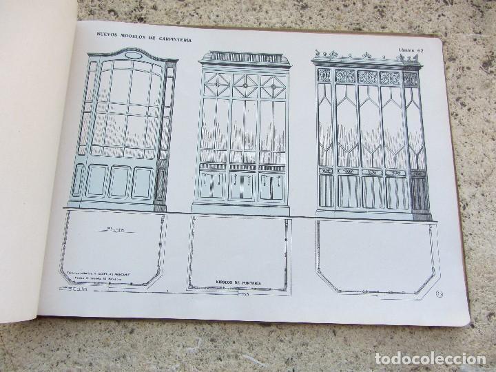 Libros antiguos: Nuevos modelos de carpinteria 80 laminas J. Artigas - Foto 4 - 121448311