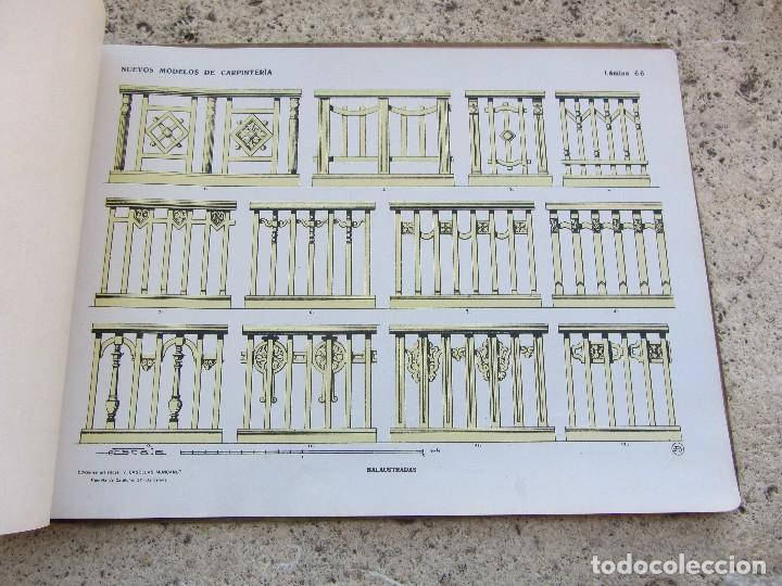Libros antiguos: Nuevos modelos de carpinteria 80 laminas J. Artigas - Foto 5 - 121448311