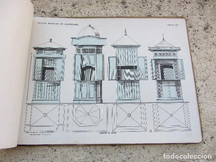 Libros antiguos: Nuevos modelos de carpinteria 80 laminas J. Artigas - Foto 6 - 121448311