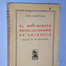 Libros antiguos: EL MOVIMIENTO REVOLUCIONARIO EN VALENCIA (RELATO DE UN PROCESADO). Lote 121516343