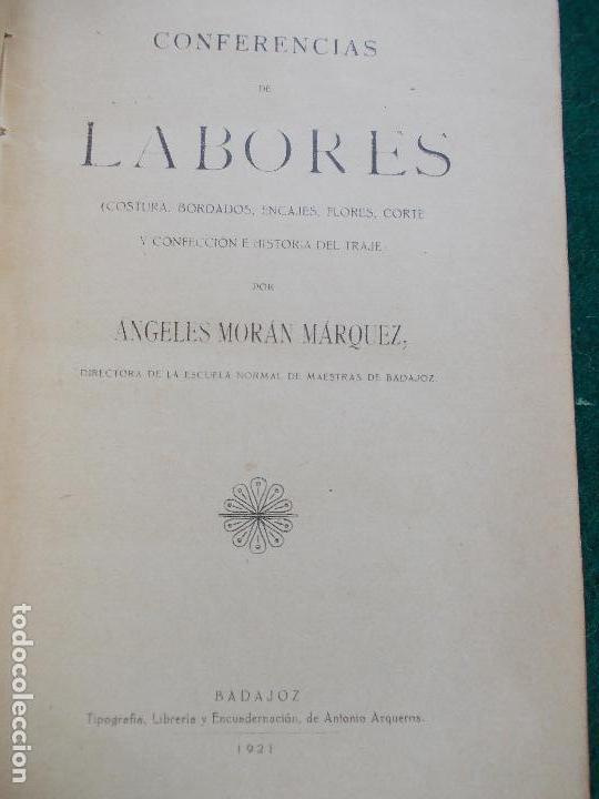 Libros antiguos: CONFERENCIA DE LABORES ANGELES MORAN MARQUEZ 1921 - Foto 6 - 121607699