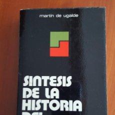 Libros antiguos: SÍNTESIS DE LA HISTORIA DEL PAÍS VASCO. Lote 121624339
