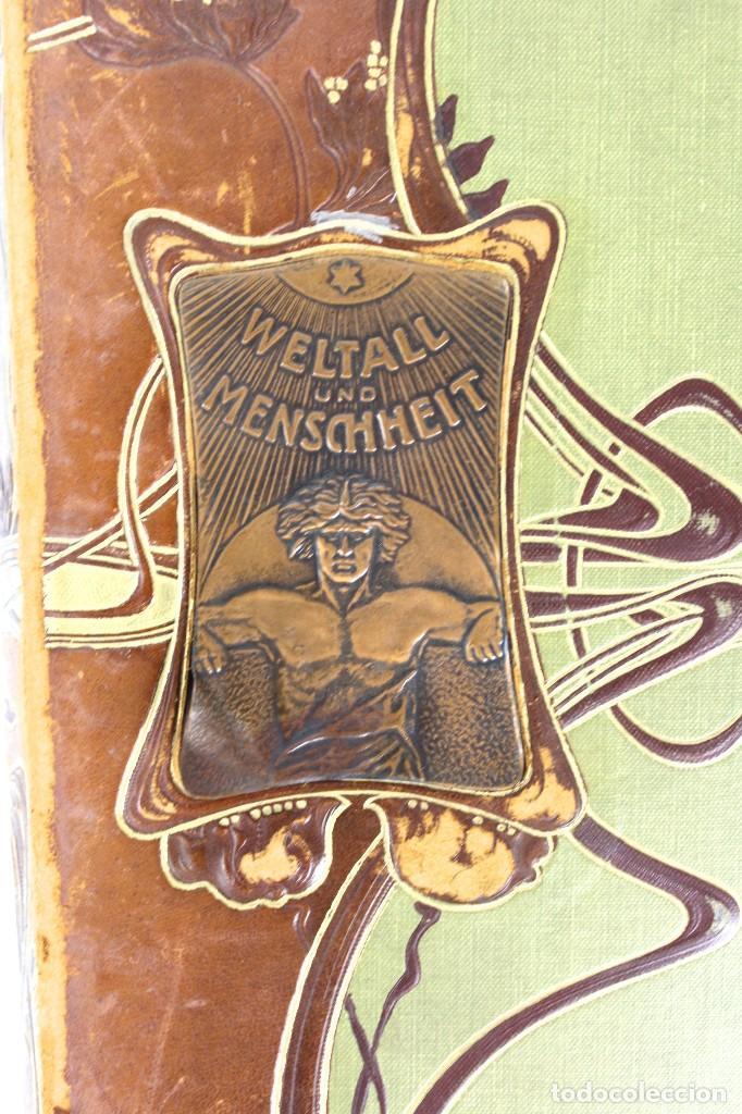 Libros antiguos: L-3474 WELTALL UND MENSCHHEIT TOMO DE ENCICLOPEDIA MODERNISTA .PRINCIPIOS DE SIGLO XX. - Foto 4 - 121726371