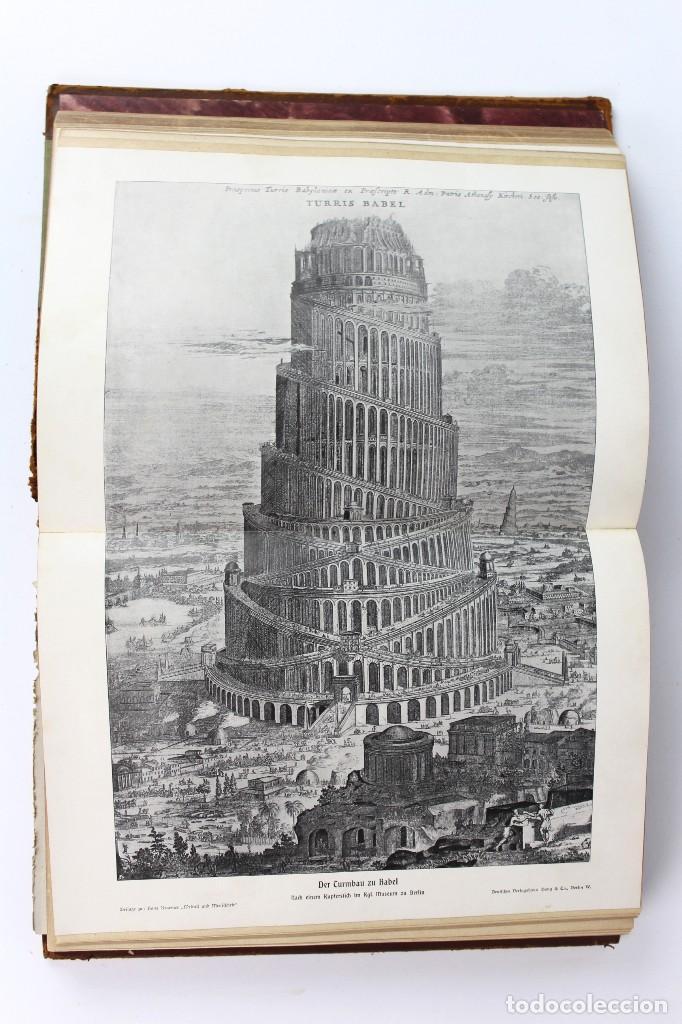 Libros antiguos: L-3474 WELTALL UND MENSCHHEIT TOMO DE ENCICLOPEDIA MODERNISTA .PRINCIPIOS DE SIGLO XX. - Foto 7 - 121726371