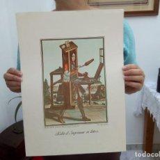 Libri antichi: TUBAL HABIT D'IMPRIMEUR EN LETTRES LITOGRAFIA 45 CM 350 GRS C2. Lote 121730299