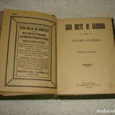 Libros antiguos: GUIA BREVE DE GRANADA. LUIS SECO DE LUCENA - 3ª EDICION 1923. Lote 121809423