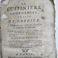 Libros antiguos: LA CUISINIERE BOURGEOISE 1769. Lote 121811091
