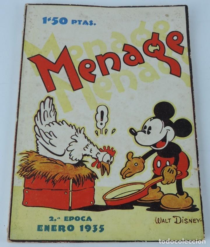 MENAGE REVISTA DEL ARTE EN LA CASA ,COCINA Y PASTELERIA MODERNAS 2 EPOCA ENERO 1935 - MICKEY MOUSE, (Libros Antiguos, Raros y Curiosos - Cocina y Gastronomía)