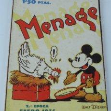 Libros antiguos: MENAGE REVISTA DEL ARTE EN LA CASA ,COCINA Y PASTELERIA MODERNAS 2 EPOCA ENERO 1935 - MICKEY MOUSE, . Lote 121826687