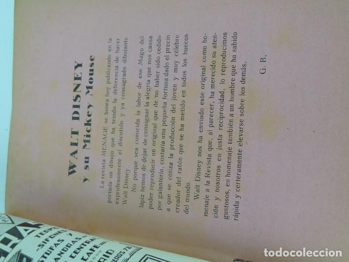 Libros antiguos: MENAGE REVISTA DEL ARTE EN LA CASA ,COCINA Y PASTELERIA MODERNAS 2 Epoca Enero 1935 - Mickey Mouse, - Foto 3 - 121826687