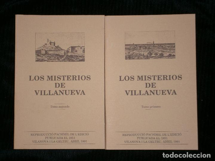 F1 LOS MISTERIOS DE VILLANUEVA TOMOS 1 Y 2 AÑO 1991 VILANOVA I LA GELTRU (Libros Antiguos, Raros y Curiosos - Historia - Otros)