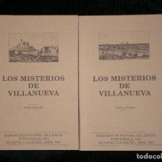Libros antiguos: F1 LOS MISTERIOS DE VILLANUEVA TOMOS 1 Y 2 AÑO 1991 VILANOVA I LA GELTRU . Lote 121860891