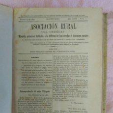 Libros antiguos: BOLETÍN DE LA ASOCIACIÓN RURAL DEL URUGUAY. AÑO 1897, COMPLETO.. Lote 121906431