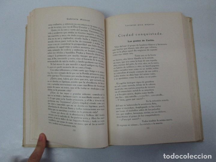 Libros antiguos: LECTURAS PARA MUJERES. GABRIELA MISTRAL. ESCUELA HOGAR 1924. VER FOTOGRAFIAS ADJUNTAS - Foto 9 - 122052011