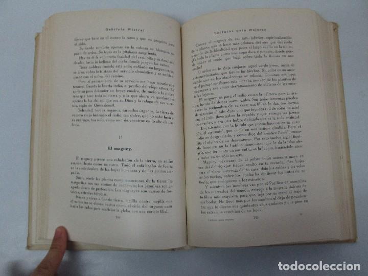 Libros antiguos: LECTURAS PARA MUJERES. GABRIELA MISTRAL. ESCUELA HOGAR 1924. VER FOTOGRAFIAS ADJUNTAS - Foto 10 - 122052011