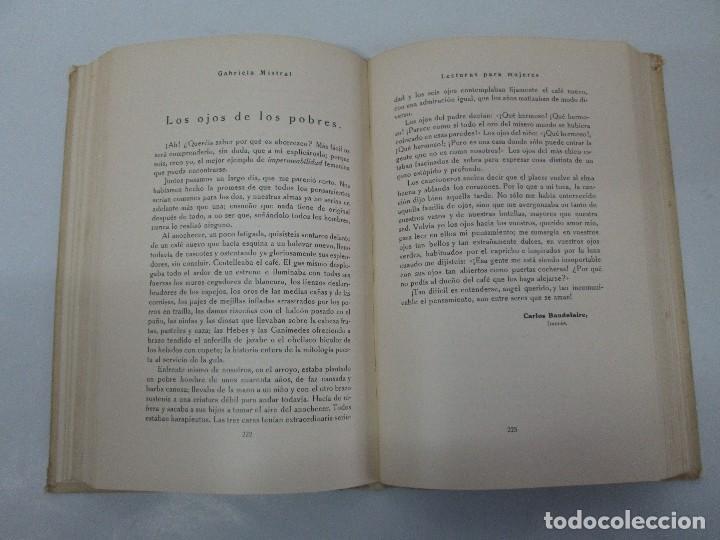 Libros antiguos: LECTURAS PARA MUJERES. GABRIELA MISTRAL. ESCUELA HOGAR 1924. VER FOTOGRAFIAS ADJUNTAS - Foto 11 - 122052011