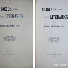Livros antigos: POLO MARTINEZ CONDE, MANOLITA. ESBOZOS LITERARIOS. 1912.. Lote 122076523