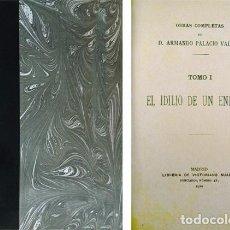Libros antiguos: PALACIO VALDÉS, ARMANDO. EL IDILIO DE UN ENFERMO. NOVELA. MADRID, V. SUÁREZ, 1910. LÁMINA RETRATO.. Lote 122077219