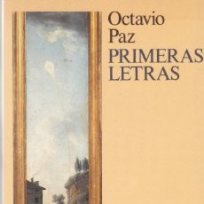 Old books - OCTAVIO PAZ - PRIMERAS LETRAS - SIX BARRAL 1988 - 122094115