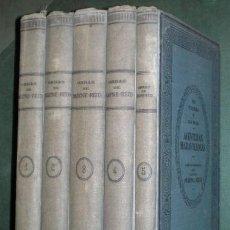 Libros antiguos: CAPITÁN MAYNE REID: OBRAS COMPLETAS - EN TIERRA Y EN MAR, AVENTURAS MARAVILLOSAS. 5 VOLÚMENES. Lote 122099923