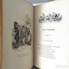 Libros antiguos: FABLES DE FLORIAN, ILLUSTRÉES PAR J.-J. GRANDVILLE… (C 1860) 80 LÁMINAS Y VIÑETAS. FÁBULAS . Lote 122278455